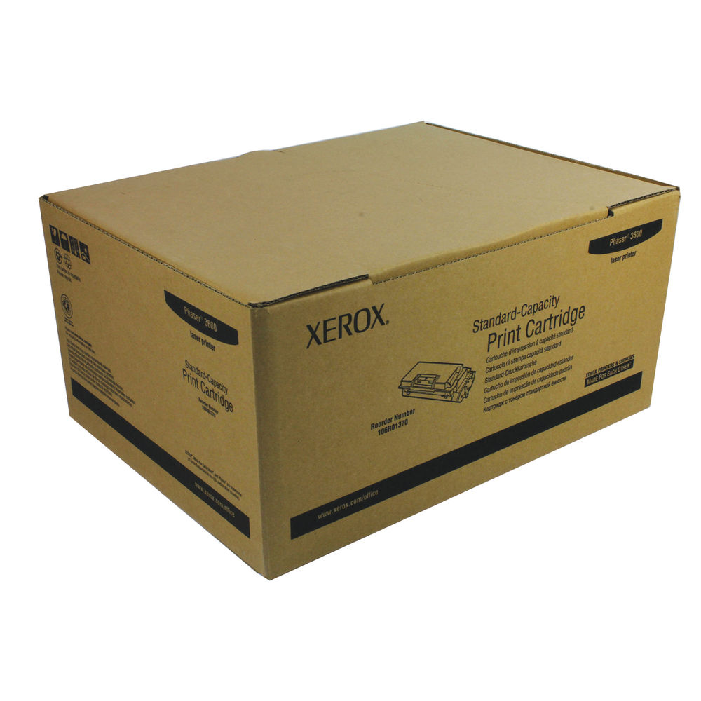 Xerox 106R01370 (Yield: 7,000 Pages) Black Toner Cartridge