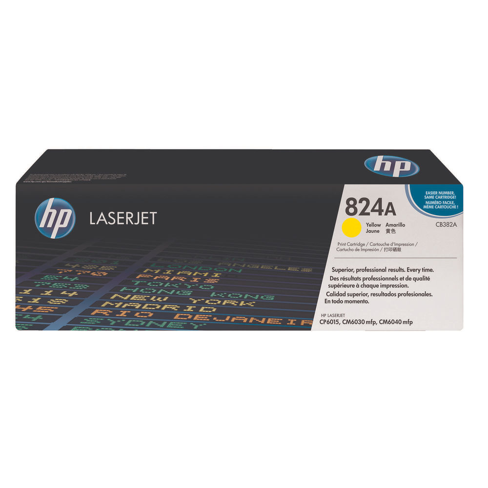 HP 824A (Yield: 21,000 Pages) Yellow Toner Cartridge