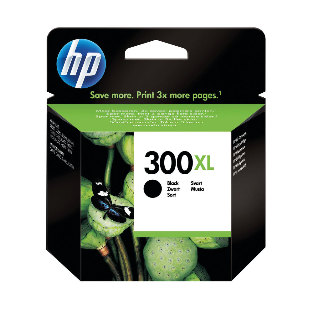 HP 300XL (Yield: 600 Pages) Black Ink Cartridge