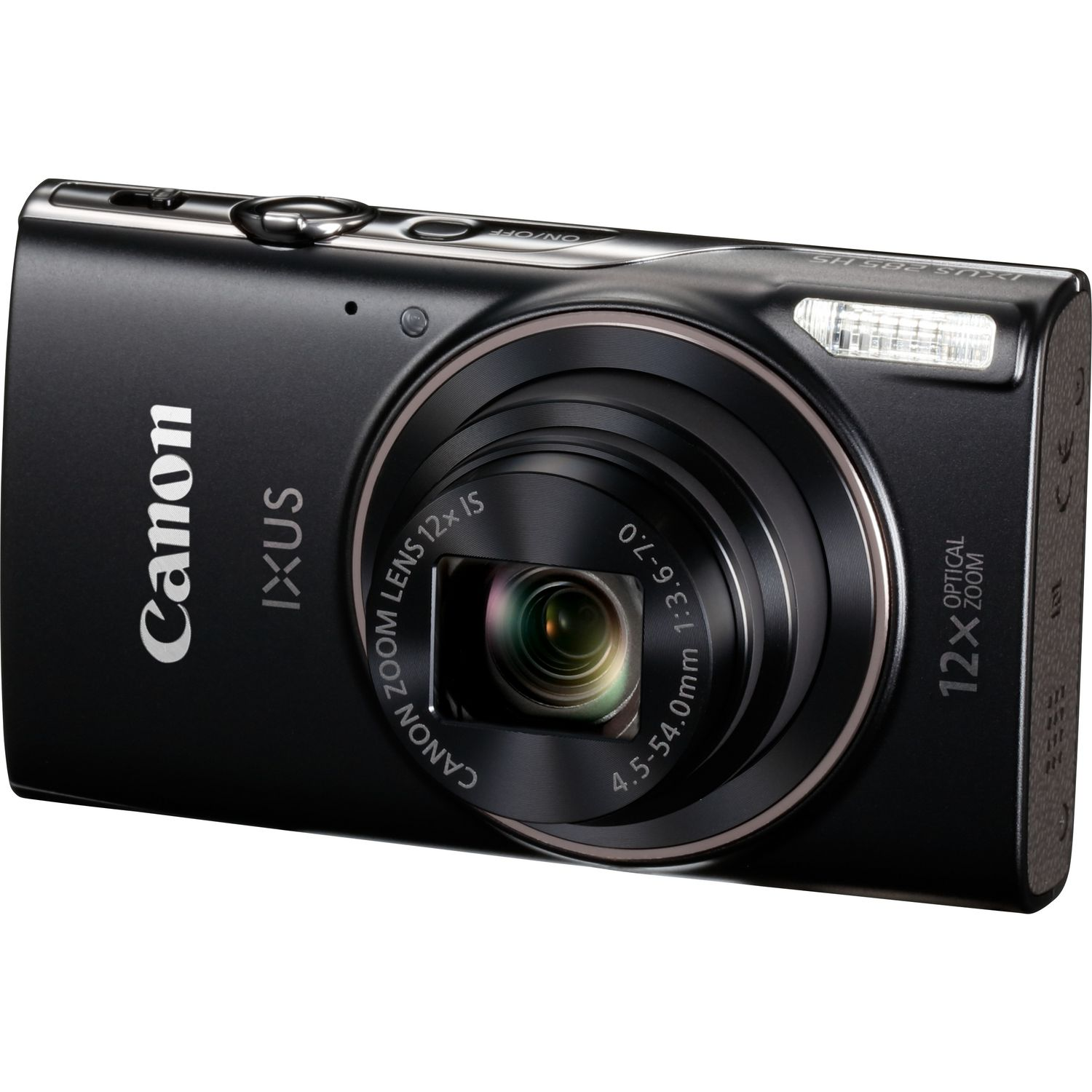 Canon IXUS 285 HS (3.0 inch Screen) Compact Digital Camera 12x Optical Zoom Wifi (Black) with 128GB SD Card and Case