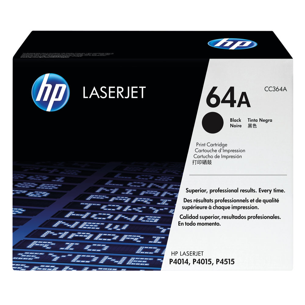HP 64A (Yield: 10,000 Pages) Black Toner Cartridge