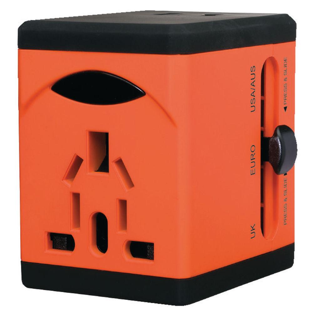 Swordfish VariPlug Dual USB Travel Adaptor (Orange)