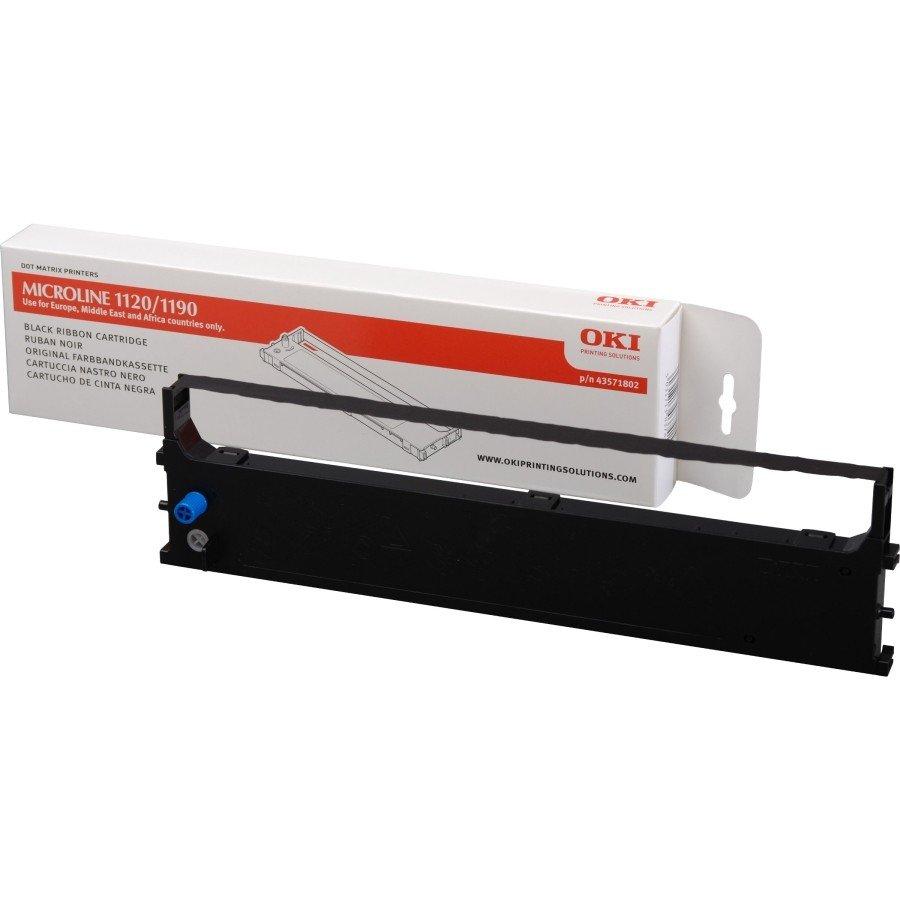 OKI 43571802 (4,000,000 Characters) Nylon Ink Ribbon Cartridge (Black)
