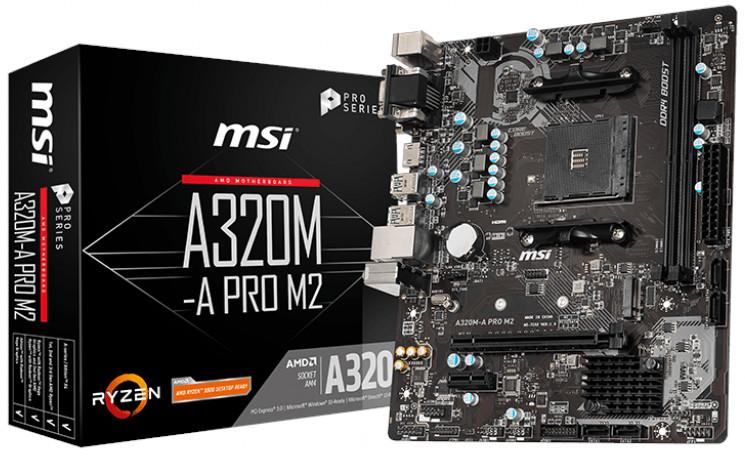 MSI A320M-A PRO M2 AMD AM4 A320 m-ATX Motherboard