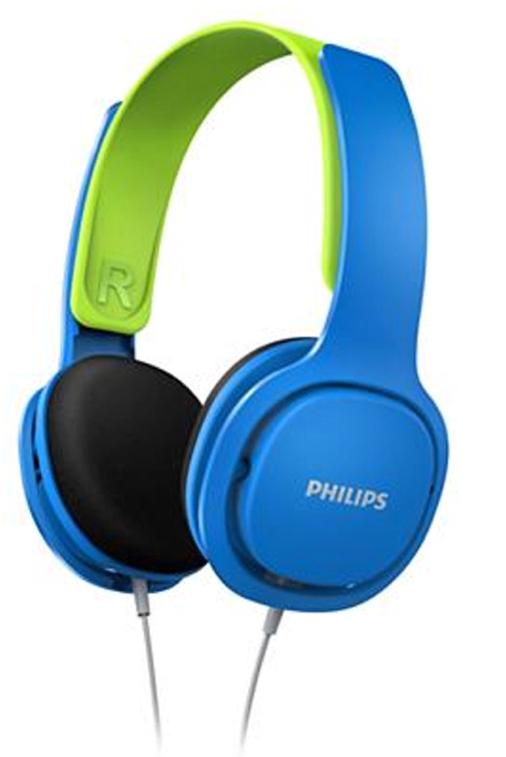 Philips On-Ear Kids Headphones (Blue and Green)