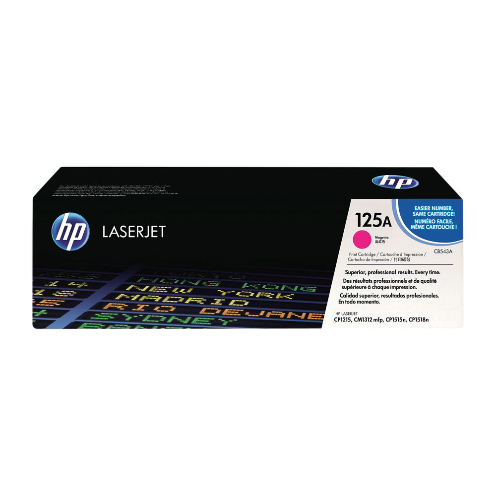 HP 125A (Yield: 1,400 Pages) Magenta Toner Cartridge