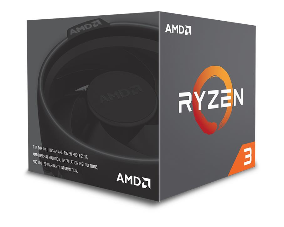 AMD Ryzen 3 (1200) 3.1GHz Processor 8MB L3 Cache (Boxed) with Wraith Stealth