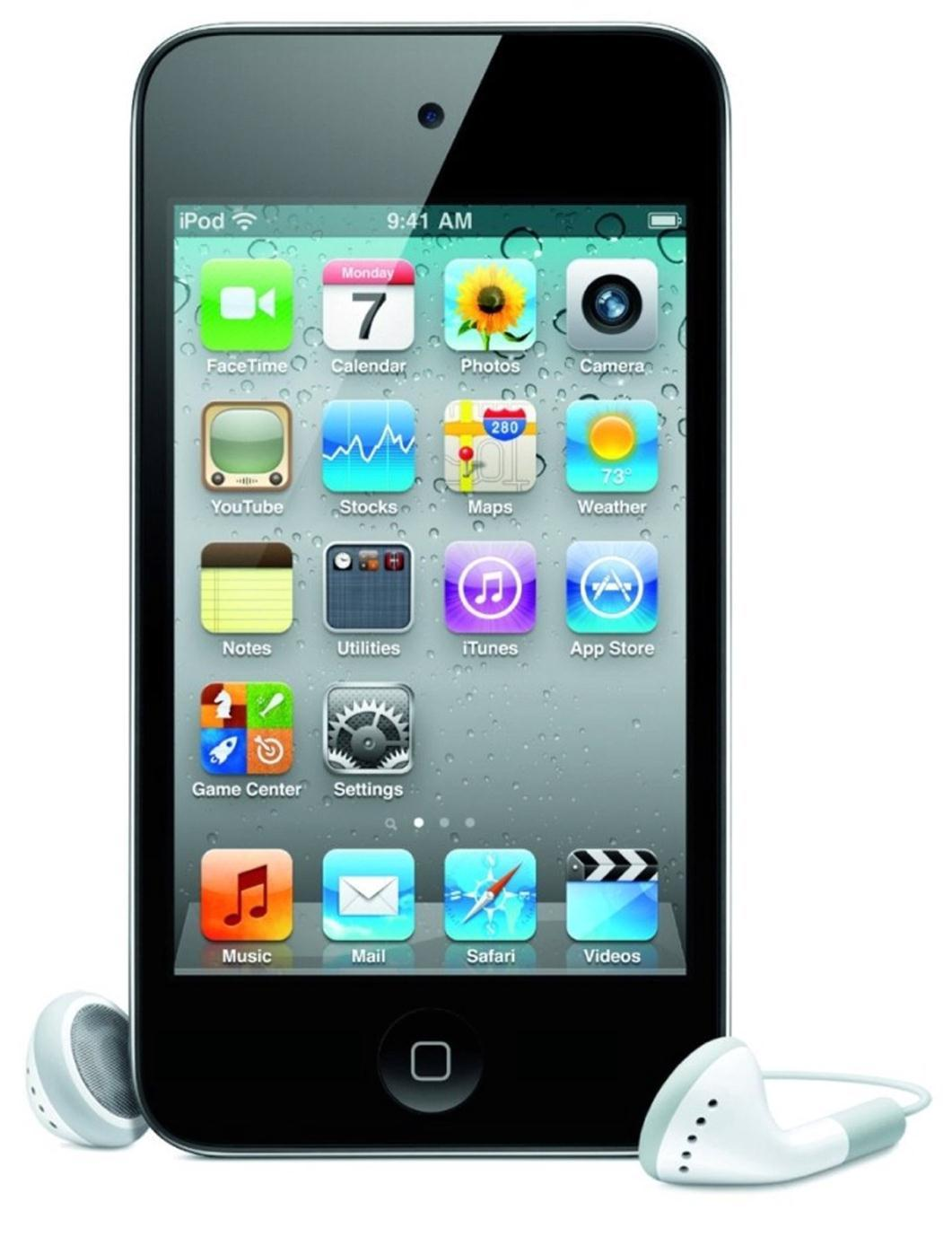 Apple iPod Touch 4 (3.5 inch) Multi-Touch Display 8GB WLAN Bluetooth Camera (Black)