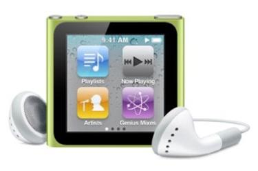 Apple iPod Nano 8GB Flash Drive with 1.54-inch Colour Multi-Touch Display and FM Radio (Green) - 6th Generation