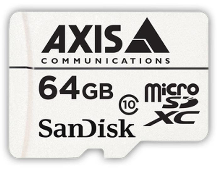 AXIS (64GB) Surveillance Class 10 microSDXC Memory Card Pack of 10
