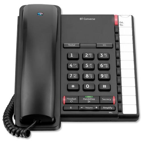 BT Converse 2200 Corded Phone (Black)