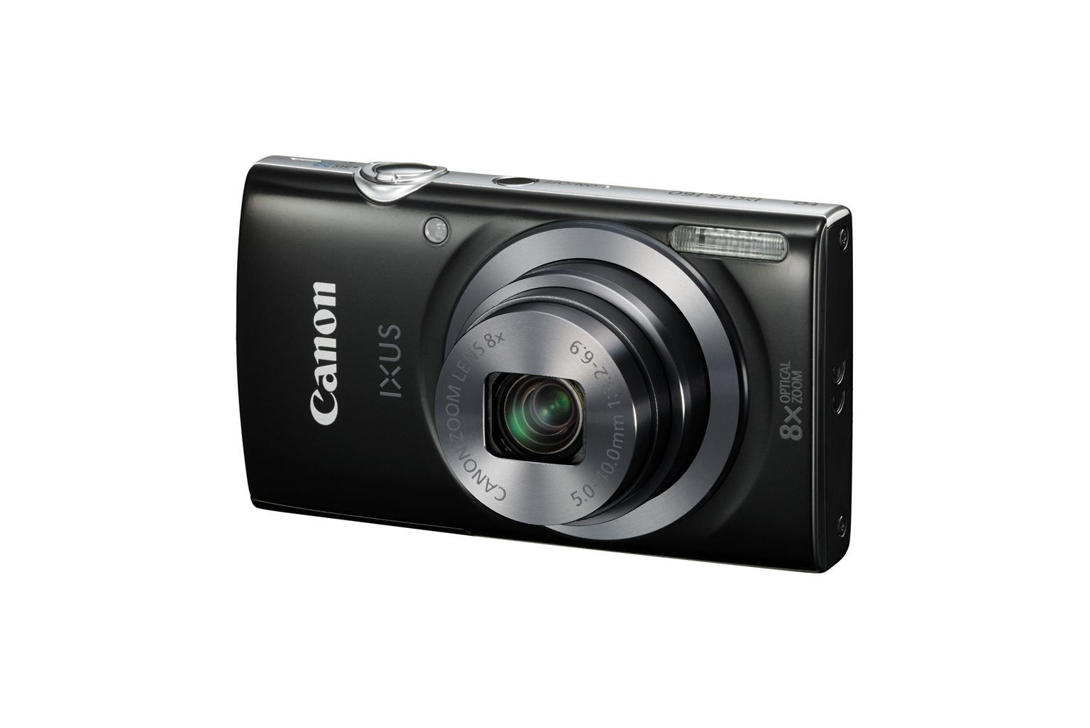 Canon IXUS 160 (20MP) 8x Optical Zoom (2.7 inch) LCD 720P Digital Compact Camera (Black)