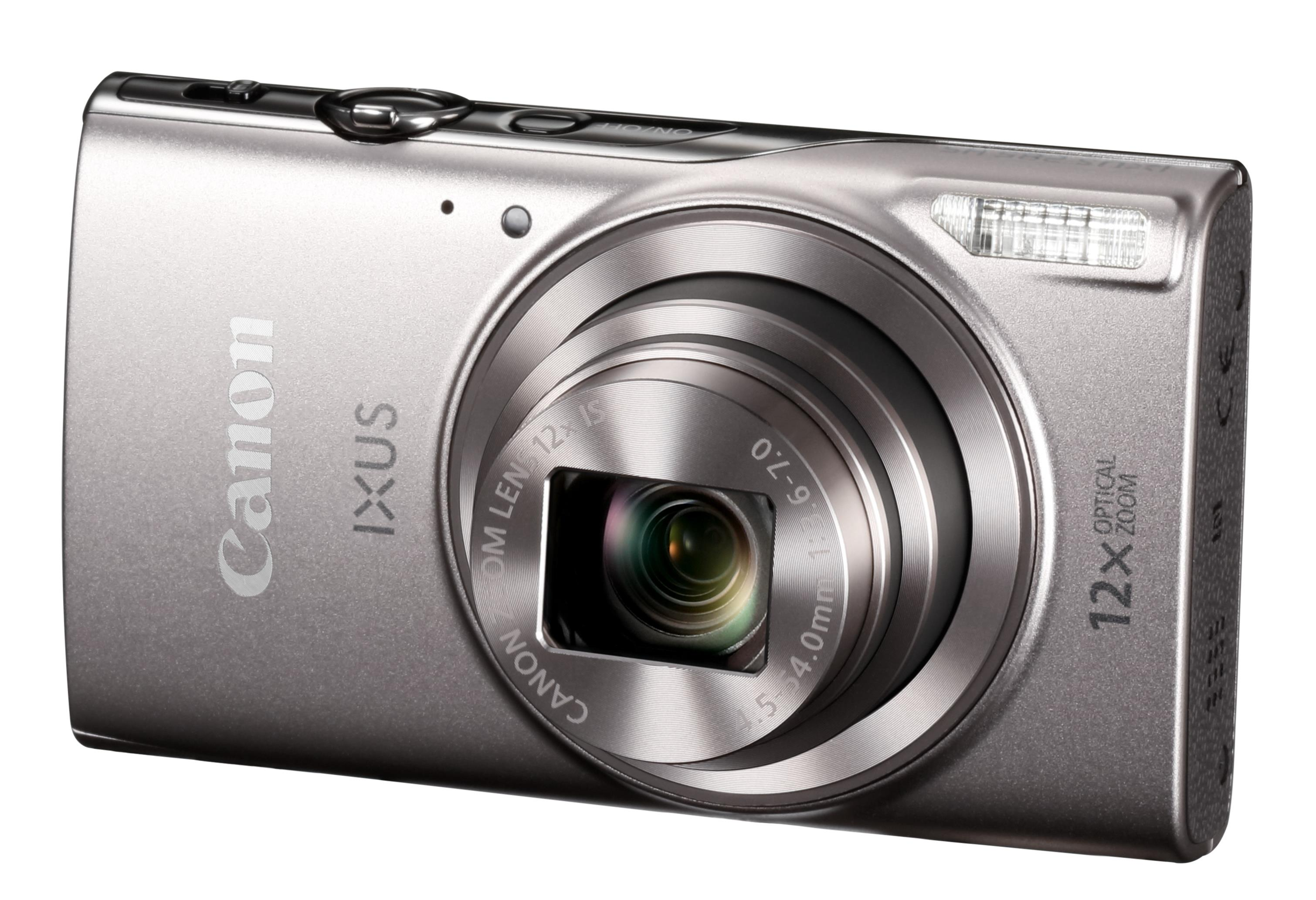 Canon IXUS 285 HS (3.0 inch Screen) Compact Digital Camera Kit 12x Optical Zoom Wifi (Silver)