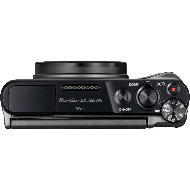 Canon PowerShot SX730 HS 21.1MP Digital Camera 40x Optical Zoom 3 inch LCD (Black)