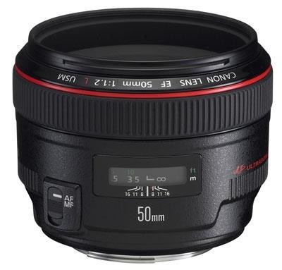 Canon EF 50mm f / 1.2L USM Telephoto Lens