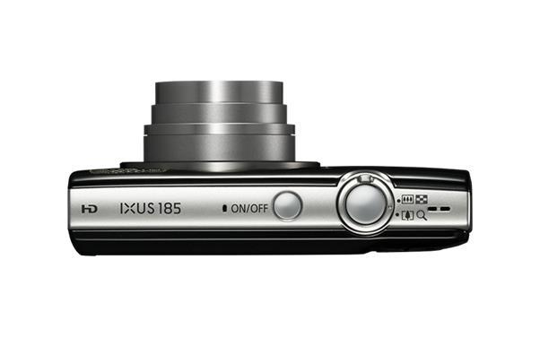 Bundle: Canon IXUS 185 (20.5MP) Digital Compact Camera 8x Optical Zoom 2.7 inch TFT LCD (Black) + Case + SD Card