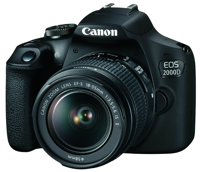 Canon EOS 2000D (24.1MP) Digital SLR Camera 3.0 inch LCD (Black) with EF-S 18-55mm IS STM II Lens