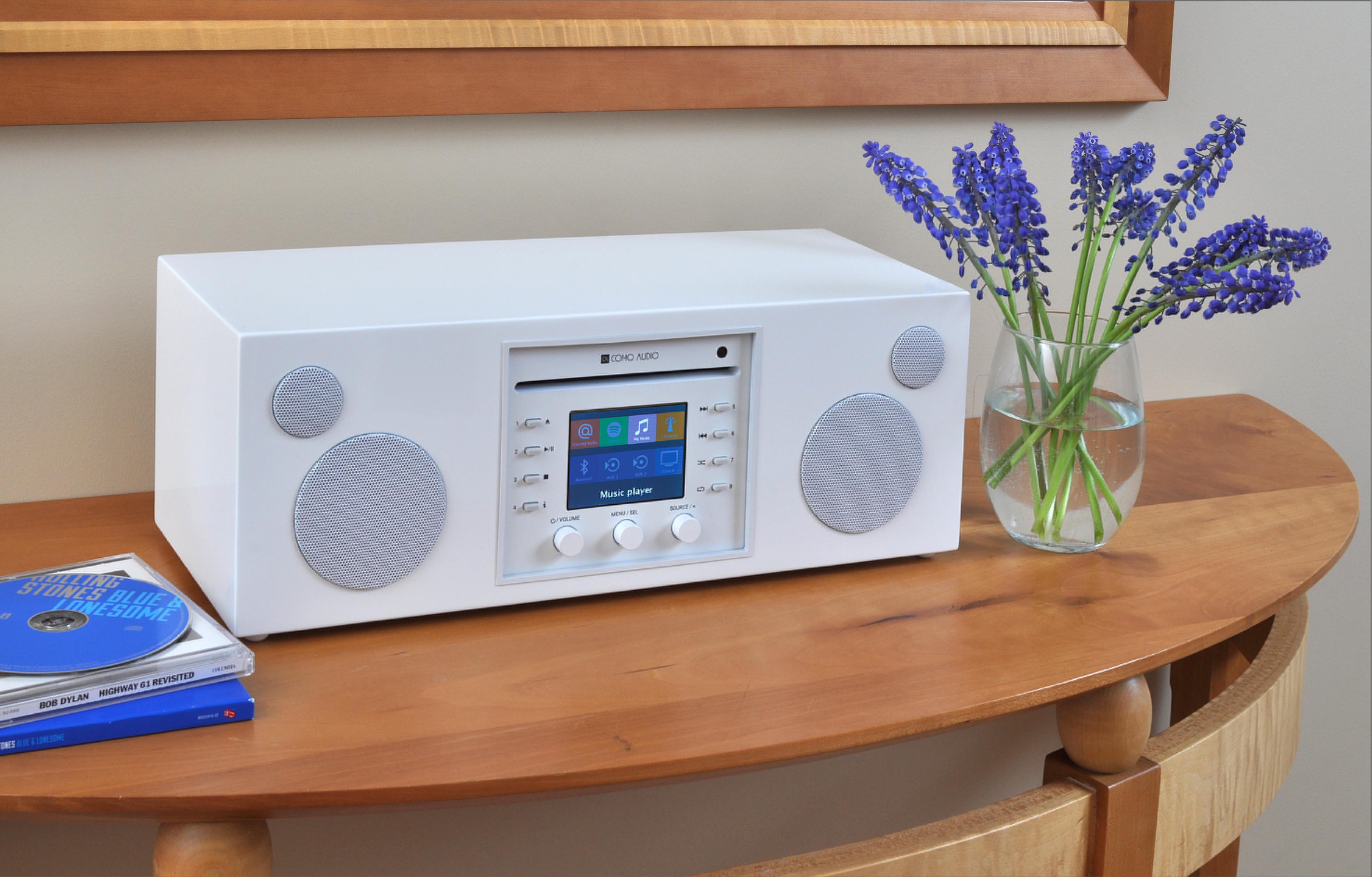 Como Audio Musica CD/DAB Sound System (Piano White)