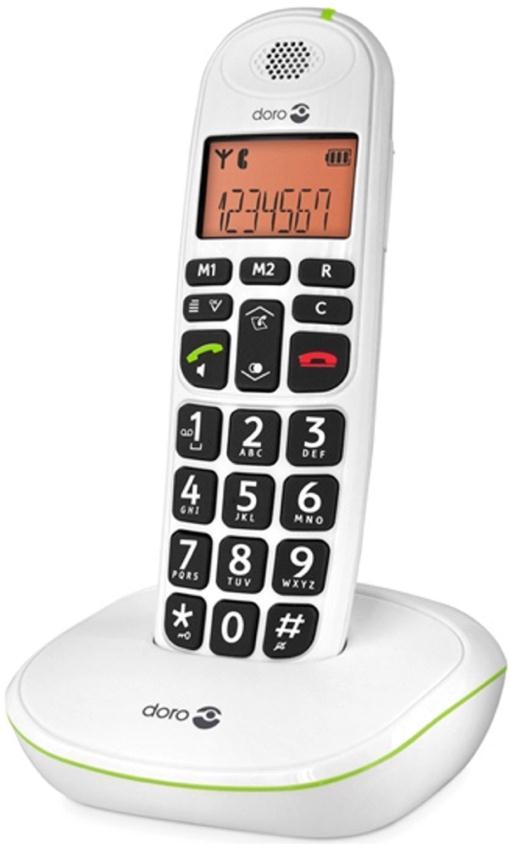 Doro PhoneEasy 100w DECT Phone (White) Single