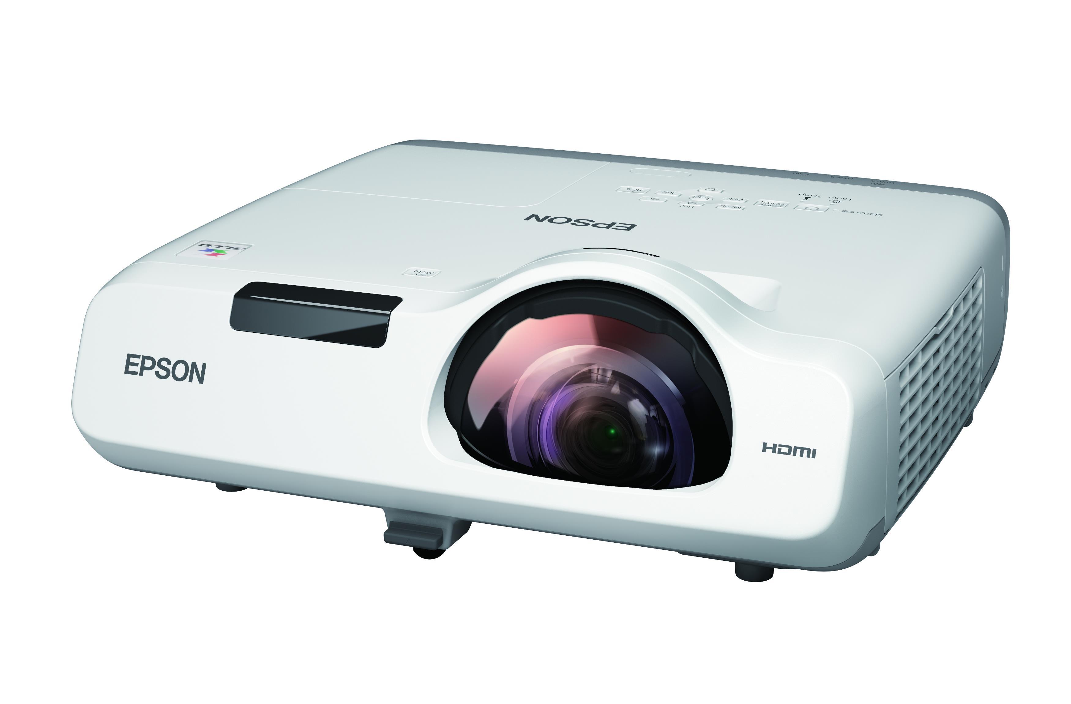 Epson EB-535W 3LCD Projector 16000:1 3400 Lumens 1280x800 3.7kg HD Ready (Ethernet)