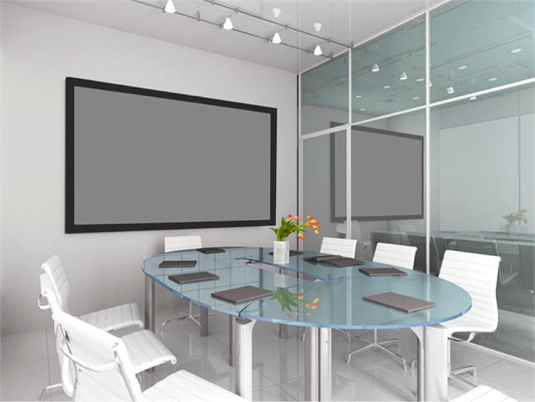 Euroscreen Frame Vision Light (200cmx125cm) 16:10 Fixed Projection Screen - Matte White (Black Border)