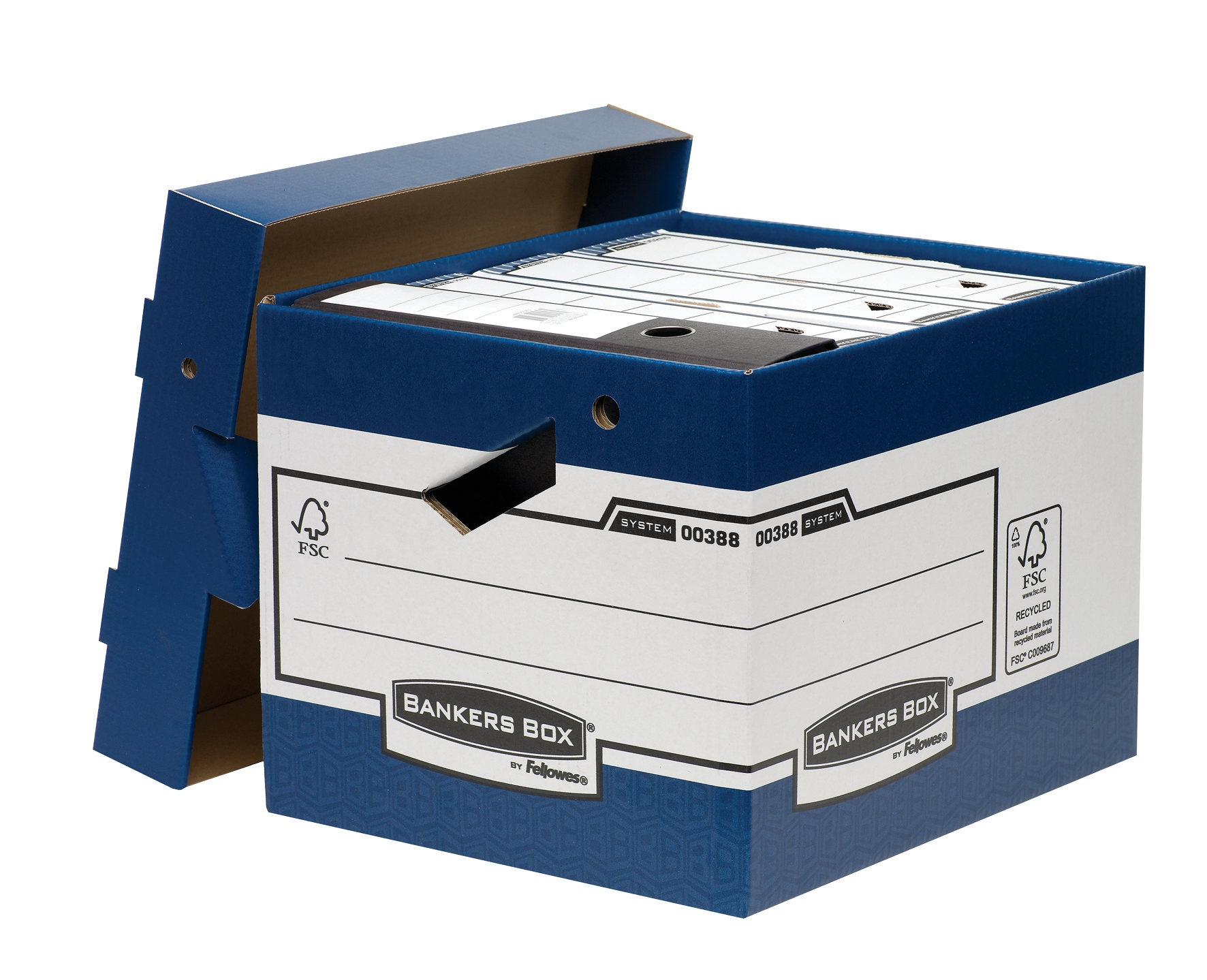 Bankers Box by Fellowes System Heavy Duty ERGO Storage Box (1 x Pack of 10 Storage Box)