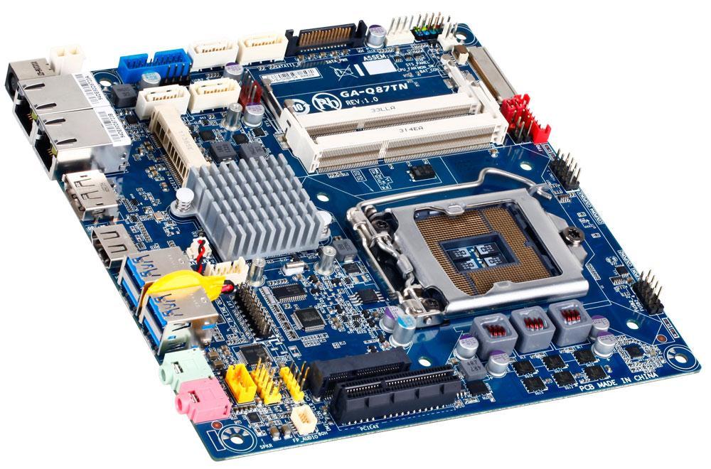 Gigabyte GA-Q87TN Motherboard Socket LGA1150 Q87 Express Mini-ITX RAID Gigabit LAN (Integrated Graphics) Bulk Order