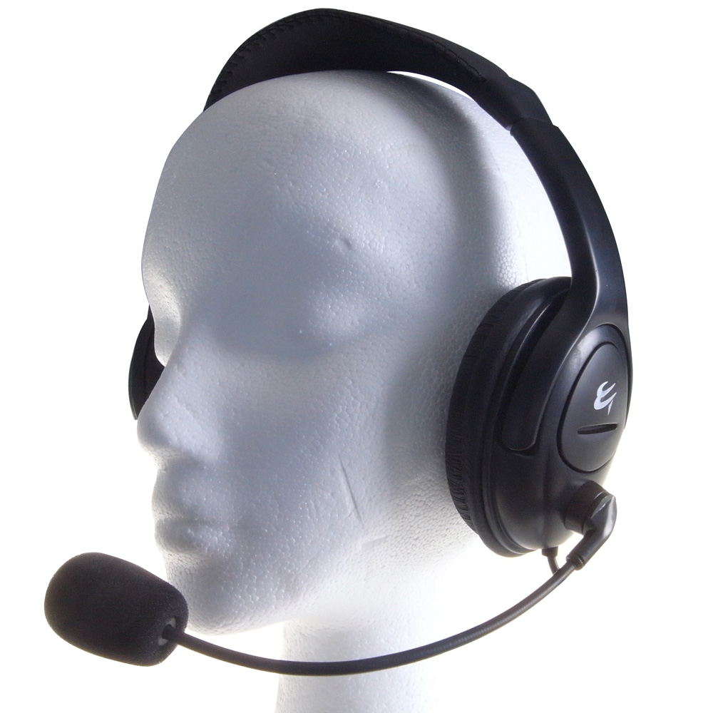 Group Gear Multimedia Stereo Headset (Black) with Boom Microphone