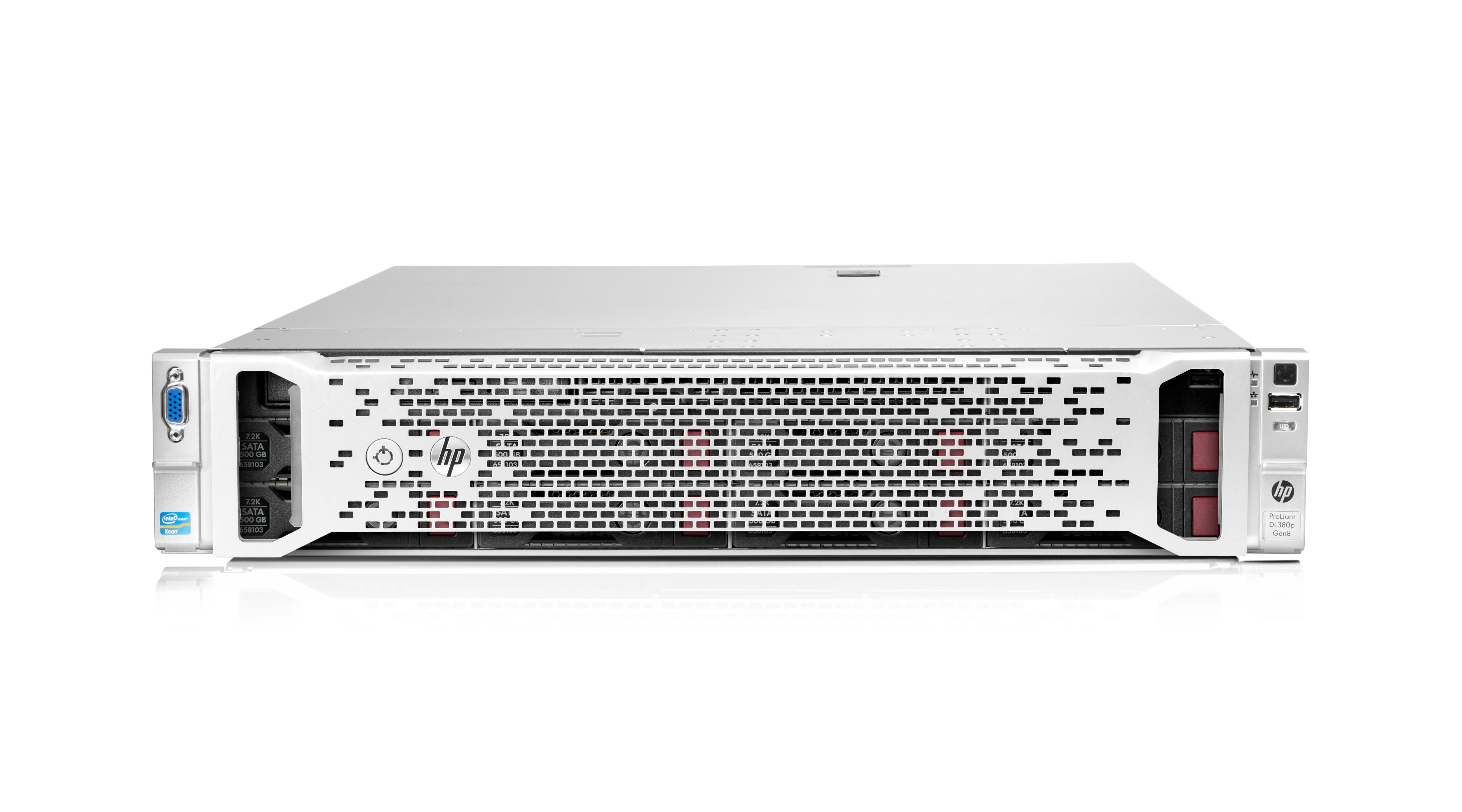 HP ProLiant DL380p Gen8 Server Xeon E5 (2620) 2GHz (1P) 16GB-R (noHDD) P420i SFF with 460W Power Supply