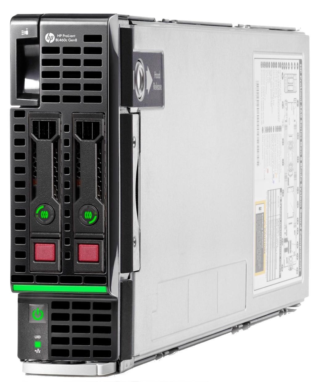 HP ProLiant BL460c Gen8 Blade Server (2P) Xeon Eight Core E5 (2670) 2.6GHz 64GB-R (no HDD) SAS/SATA/SSD (Integrated Matrox G200)