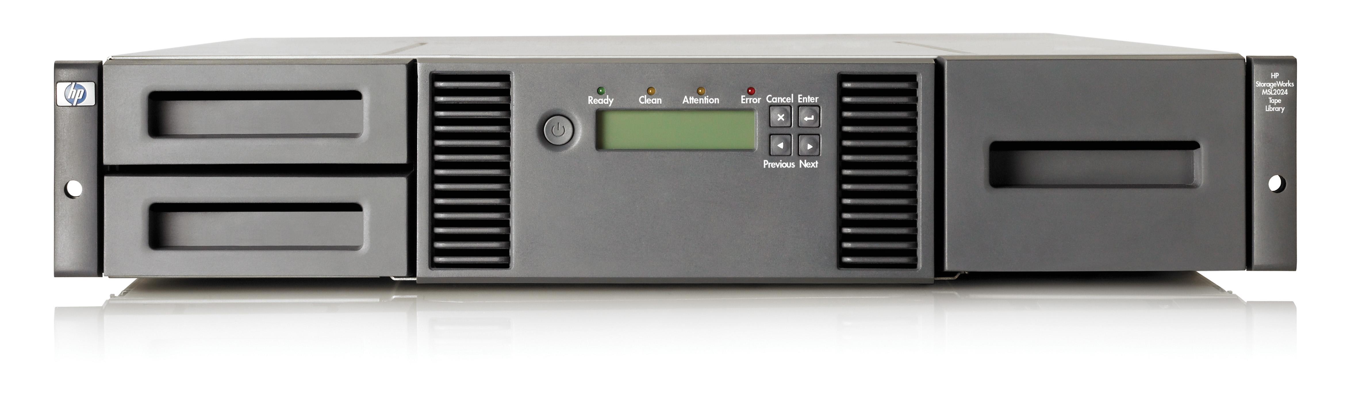 HP StoreEver MSL2024 1 LTO-5 Ultrium 3000 SAS Library with 24 x LTO-5 Media/TVlite