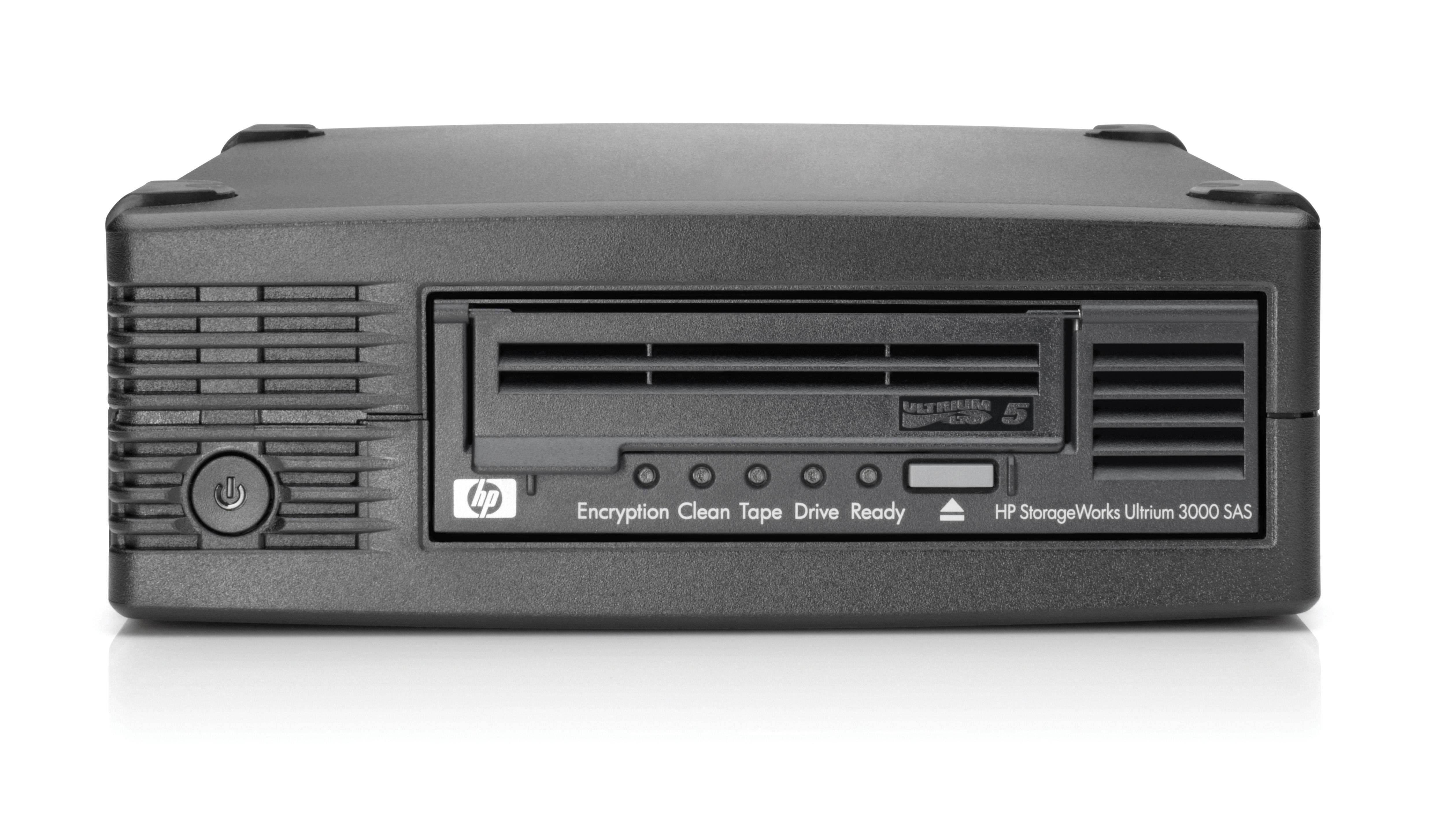HP StoreEver LTO-5 Ultrium 3000 SAS External Tape Drive with 5 LTO-5 Media/TVlite