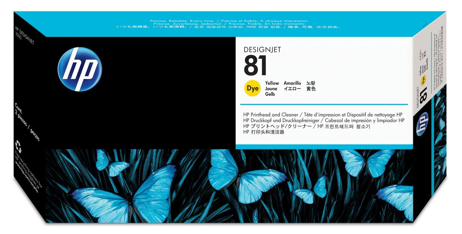 No. 81 Dye Ink Printhead and Cleaner - Yellow