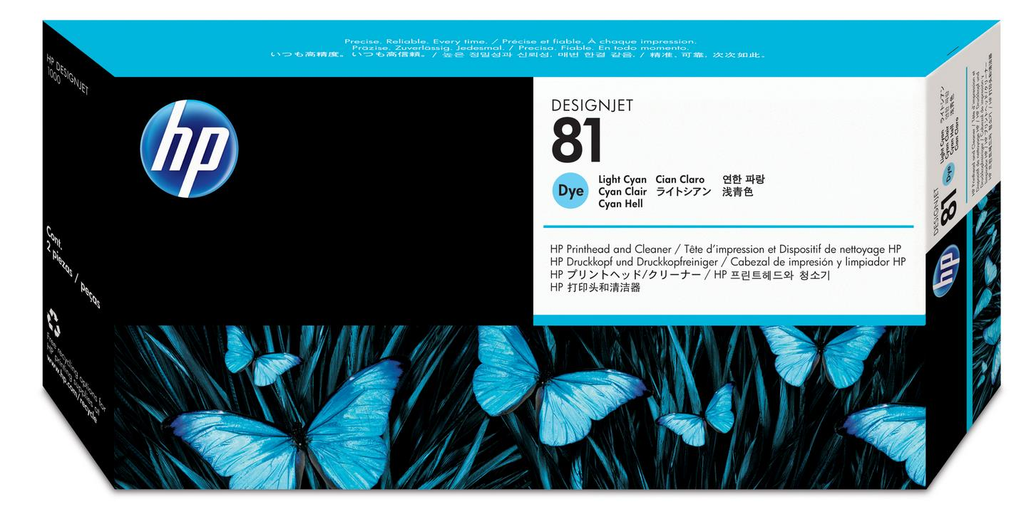 No. 81 Dye Ink Printhead and Cleaner - Light Cyan