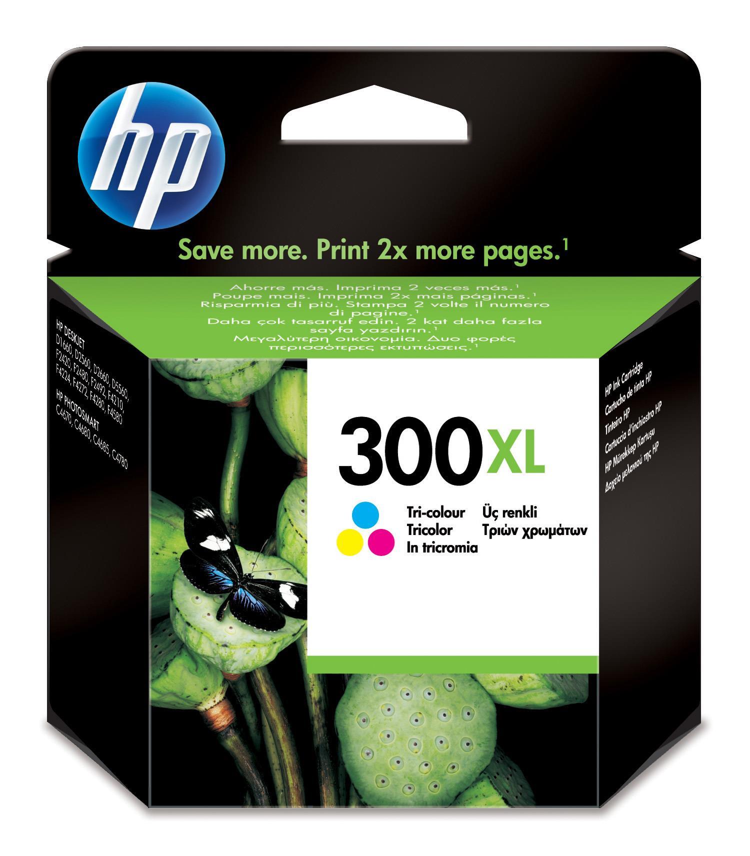 HP 300XL (Yield: 440 Pages) Cyan/Magenta/Yellow Ink Cartridge