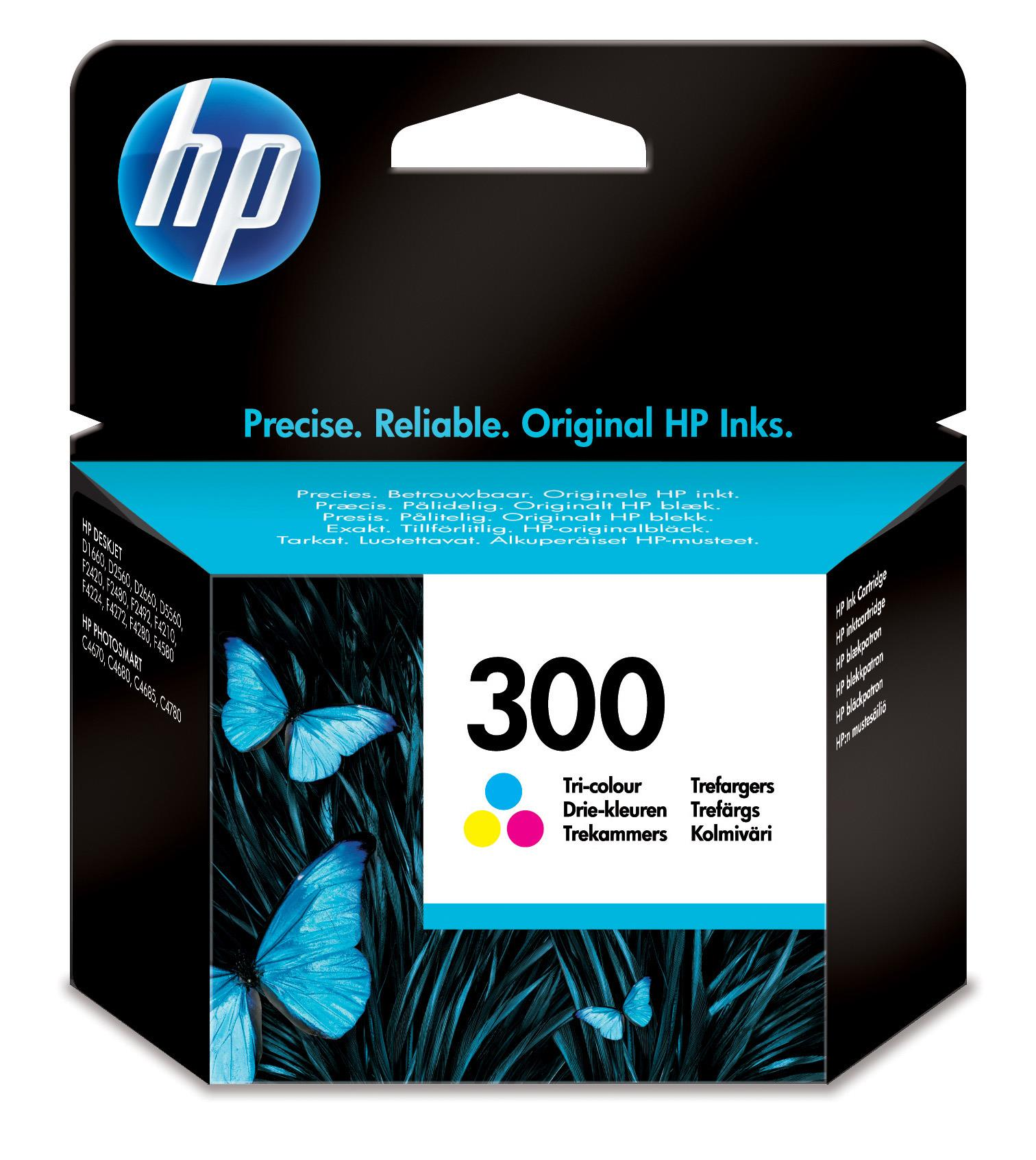 HP 300 (Yield: 165 Pages) Cyan/Magenta/Yellow Ink Cartridge
