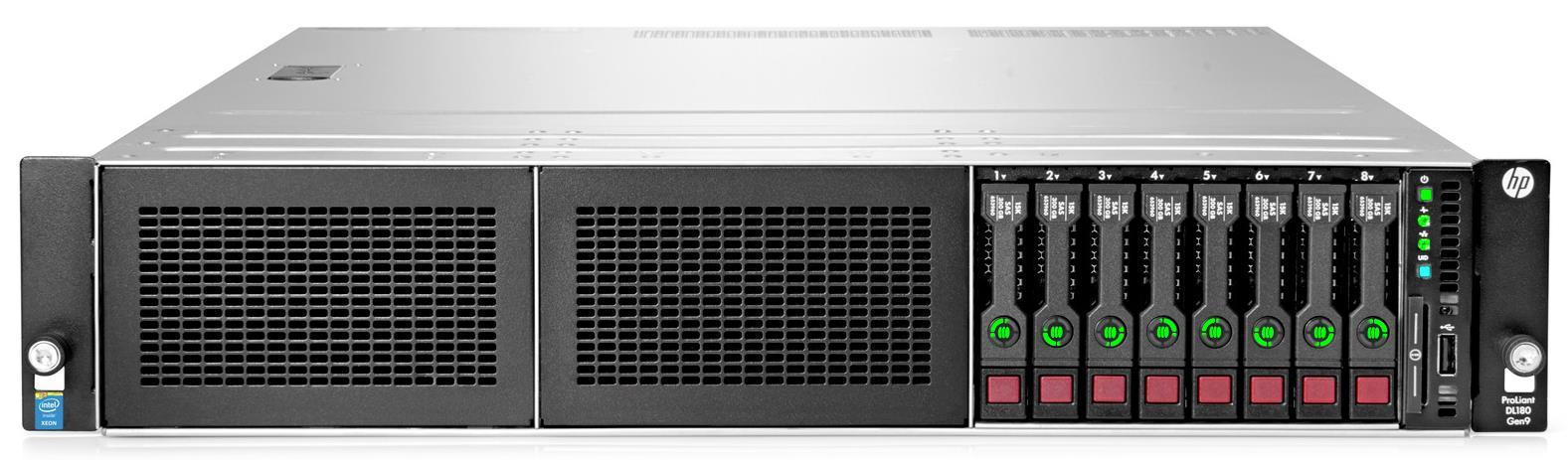 HP ProLiant DL180 Gen9 (2U) Entry Server (1P) Xeon E5 (2609 v3) 1.9GHz 8GB-R (No HDD) SFF H240 Smart Host Bus Adaptor (Matrox G200eH2) + 550W Power Supply