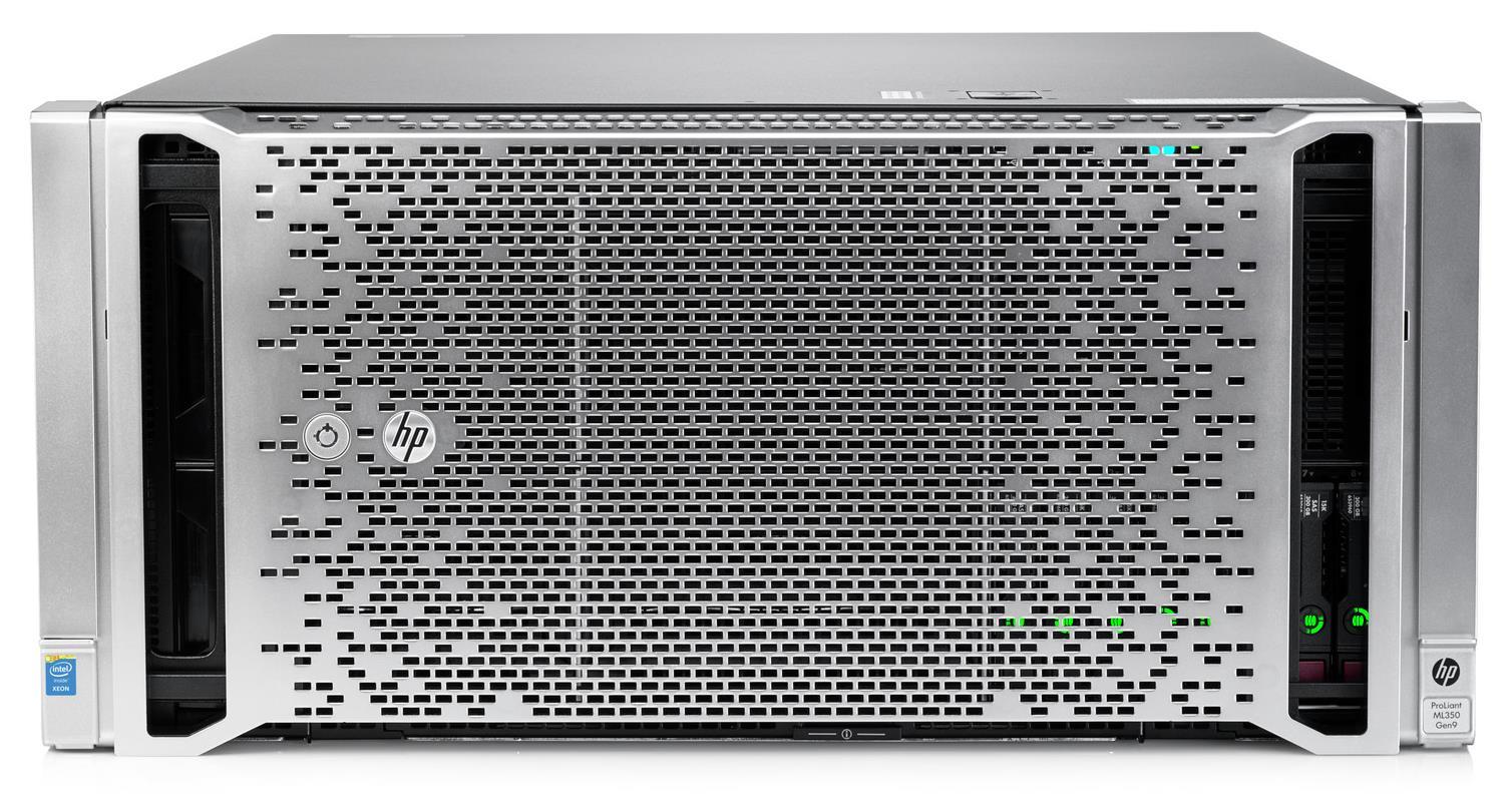HP ProLiant ML350 Gen9 (5U) Energy Star Rack Server (2P) Xeon E5 (2630 v3) 2.4GHz 32GB-R (no HDD) SFF P440ar Smart Array (Matrox G200 256MB) with 2 x 800W Power Supplies