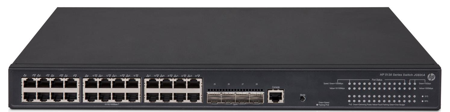 HP 5130-24G-PoE+-4SFP+ 370W EI Power over Ethernet Network Switch