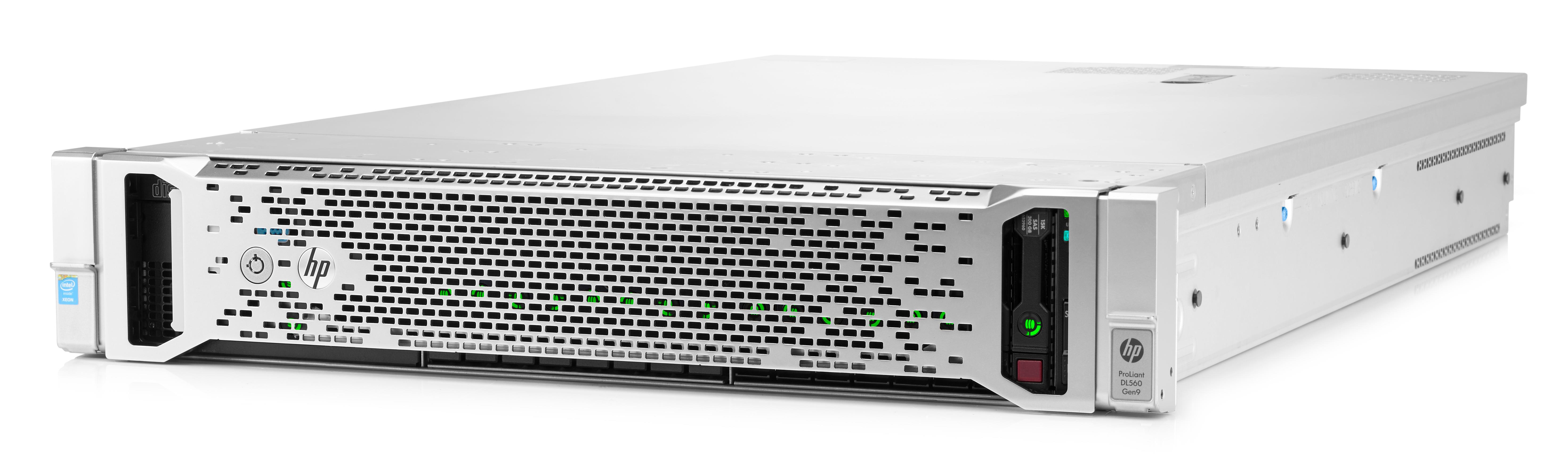 HP ProLiant DL560 Gen9 (2U) Entry Server (2P) Xeon E5 (4610 v3) 1.7GHz 32GB-R (No HDD) 8SFF SATA B140i (Matrox G200) with 1200W Power Supply