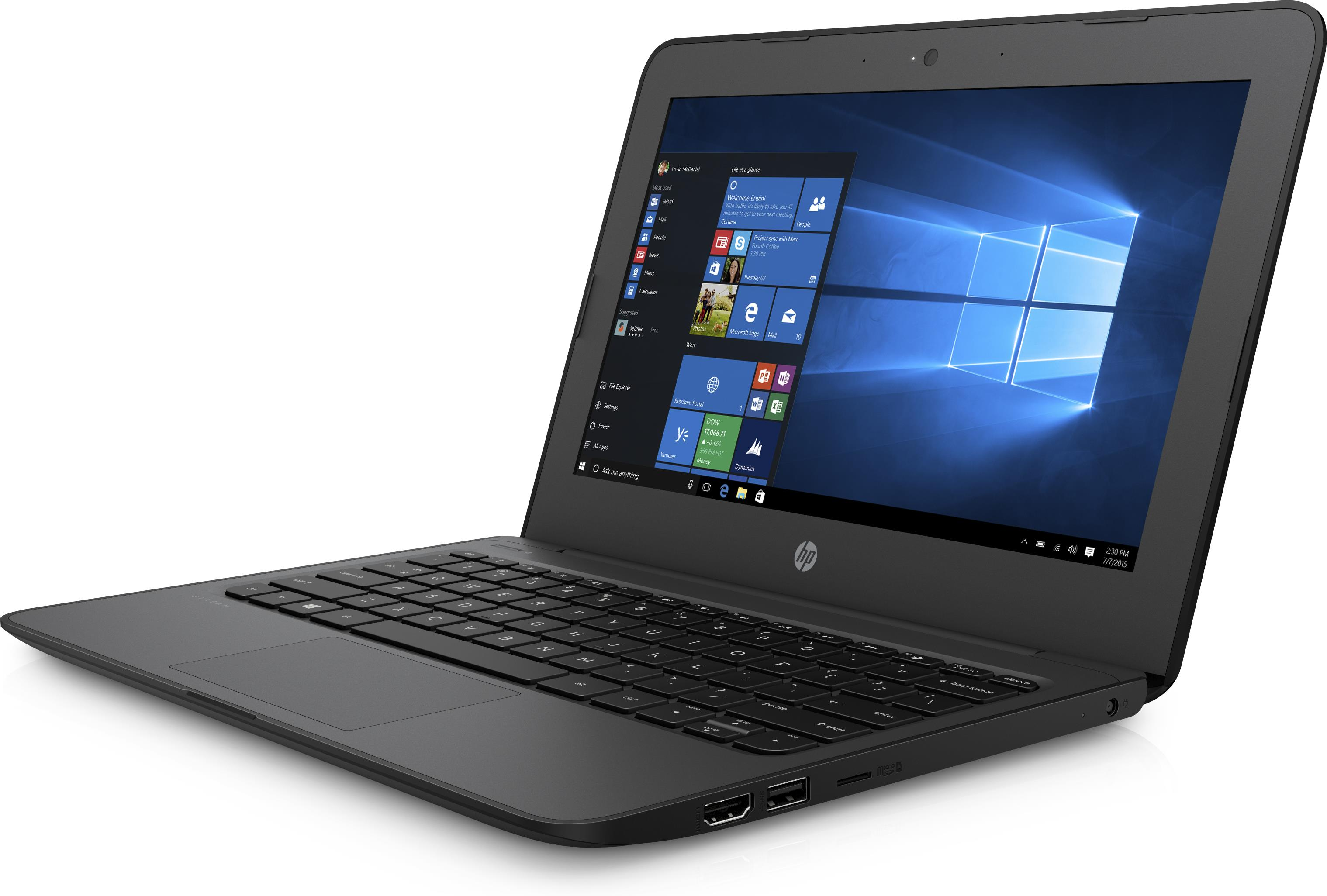HP Stream 11 Pro G4 EE (11.6 inch) Notebook PC Celeron (N3350) 1.1GHz 4GB 64GB eMMC WLAN BT Windows 10 Pro (HD Graphics 500)