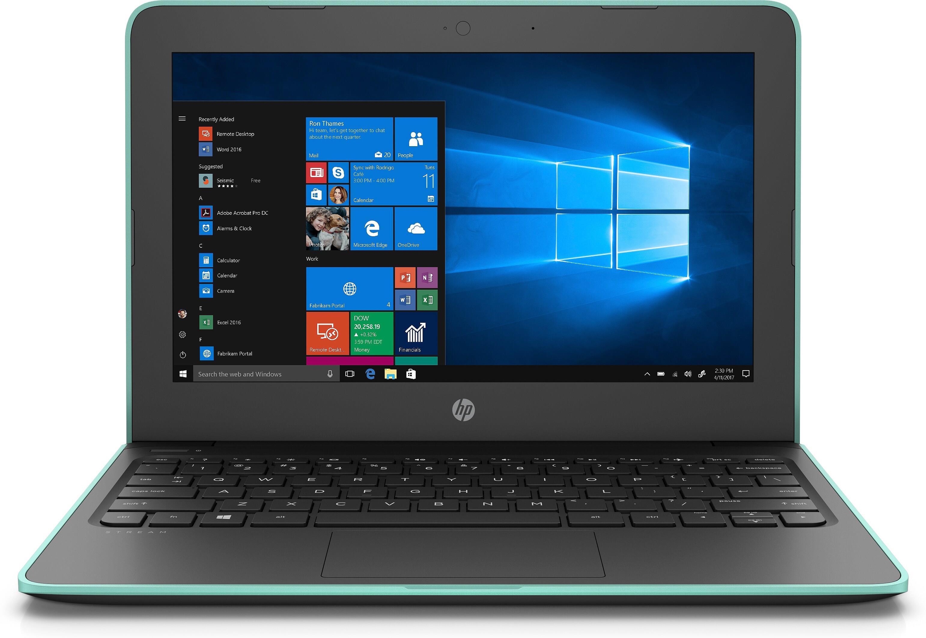 HP Stream 11 Pro G5 (11.6 inch) Notebook PC Celeron (N4100) 1.1GHz 4GB 64GB eMMc Windows 10 Pro (UHD Graphics 600)