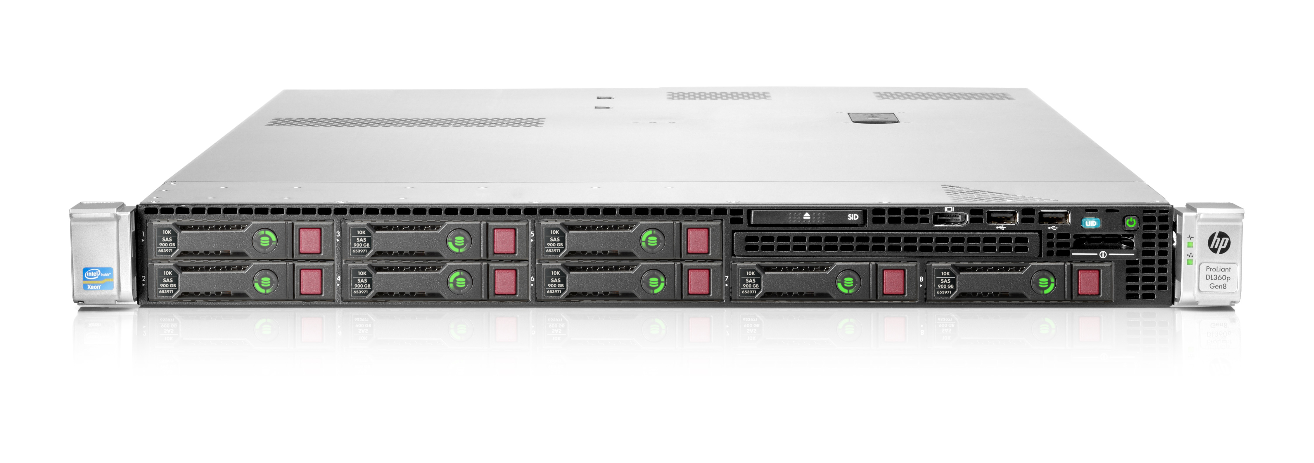 HP ProLiant DL360p Gen8 Server/TV Xeon E5 (2603) 1.8GHz (2P) 8GB-R (noHDD) P420i SFF with 460W Power Supply