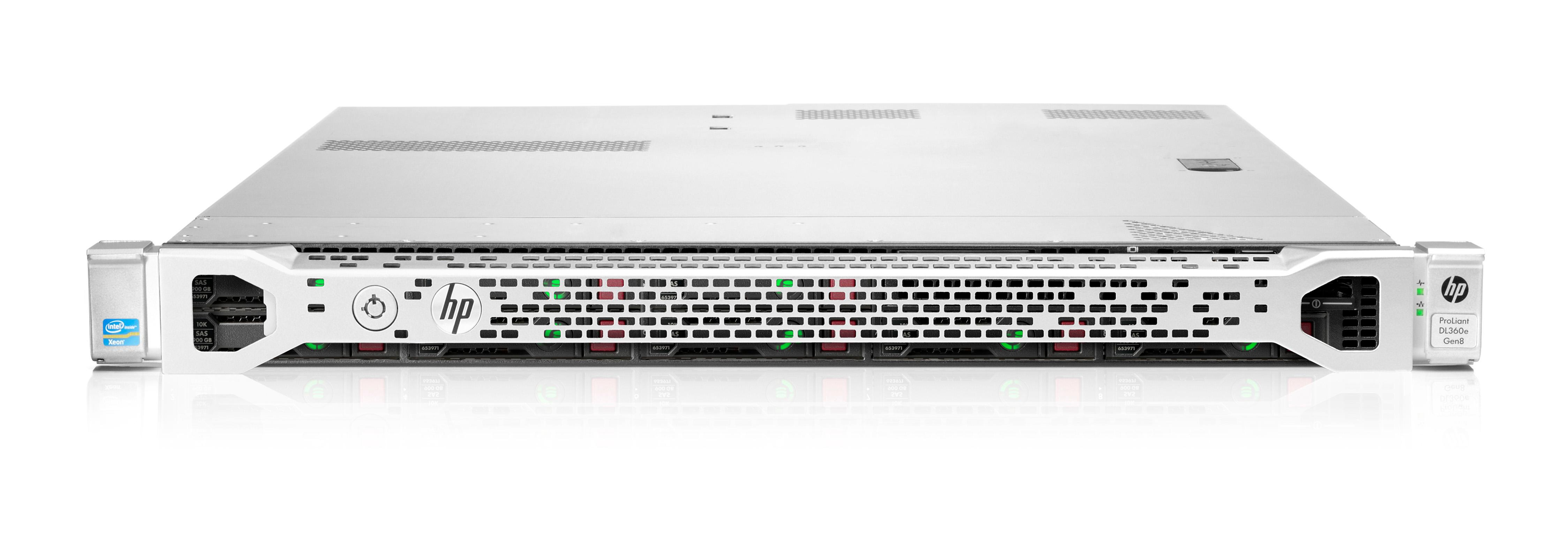 HP ProLiant DL360e Gen8 (1U) Entry Rack Server Xeon E5 (2403) 1.8GHz 4GB-R (No HDD) SAS/SATA SFF (Matrox G200 Graphics) + 460W Common Slot Gold Hot Plug Power Supply