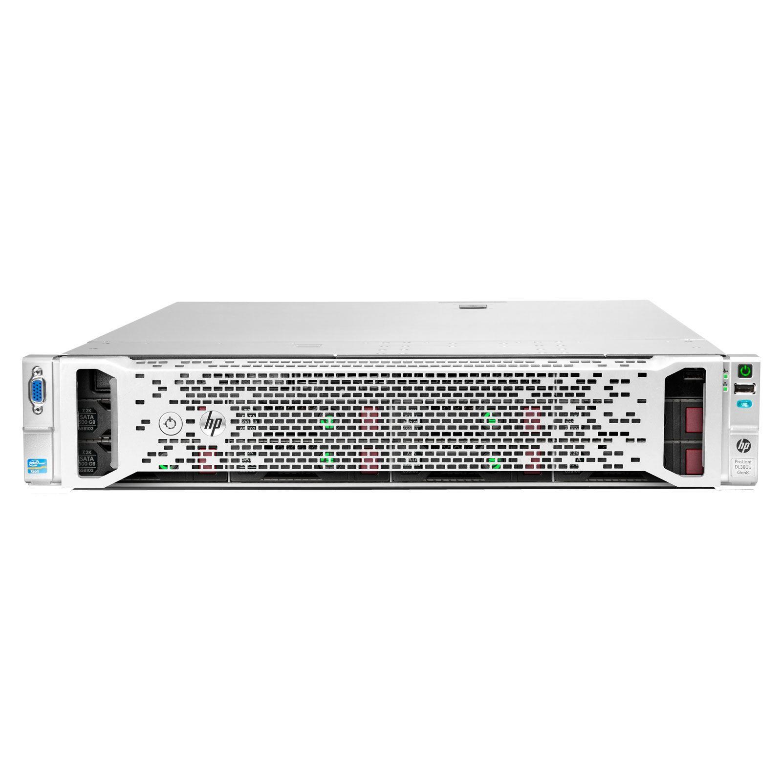 HP ProLiant DL380e Gen8 Base Server (2U) Xeon E5 (2407) 2.2GHz 8GB (No HDD) SFF with 460W Common Slot Gold Hot Plug Power Supply