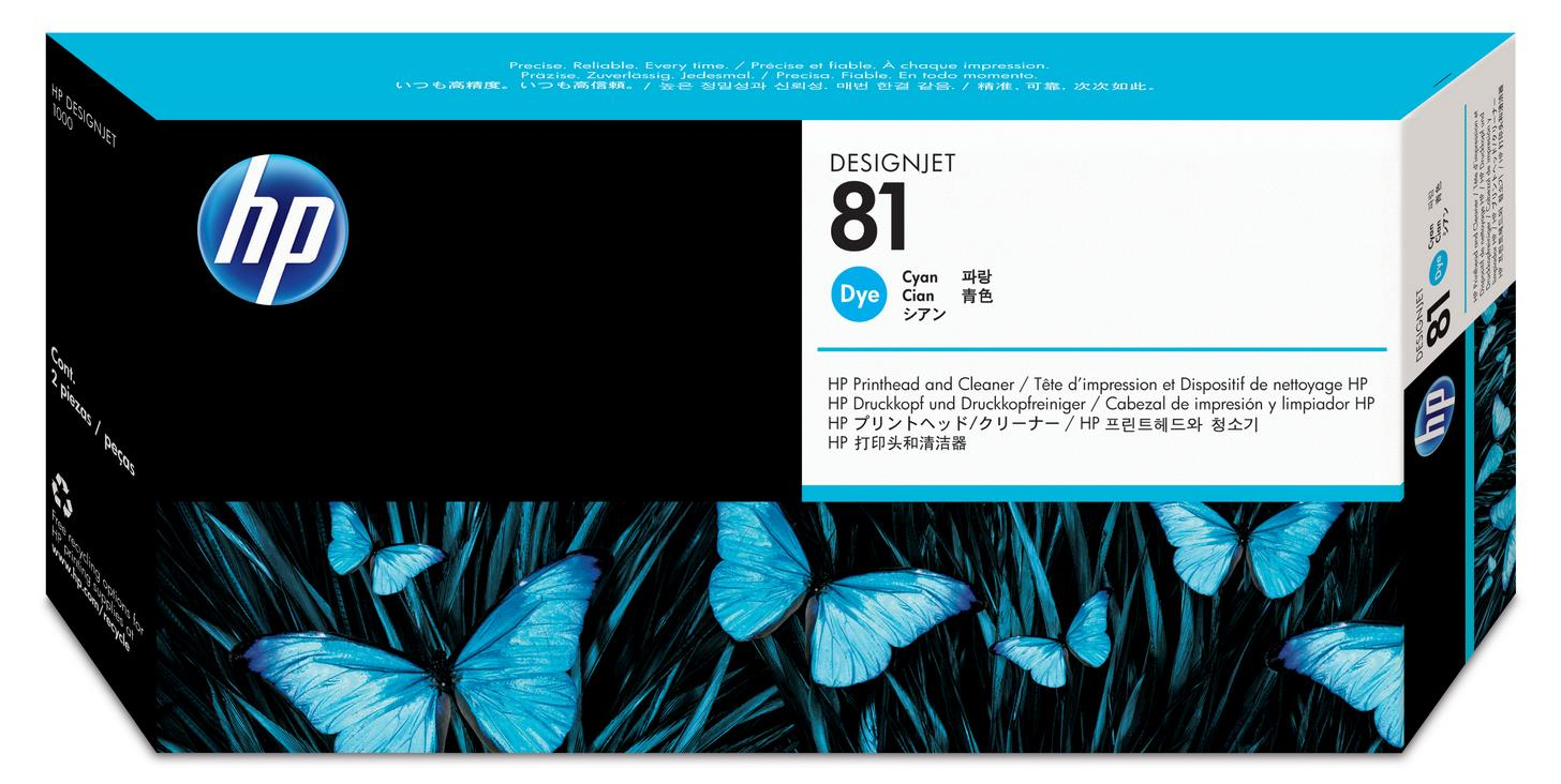 No. 81 Dye Ink Printhead and Cleaner - Cyan