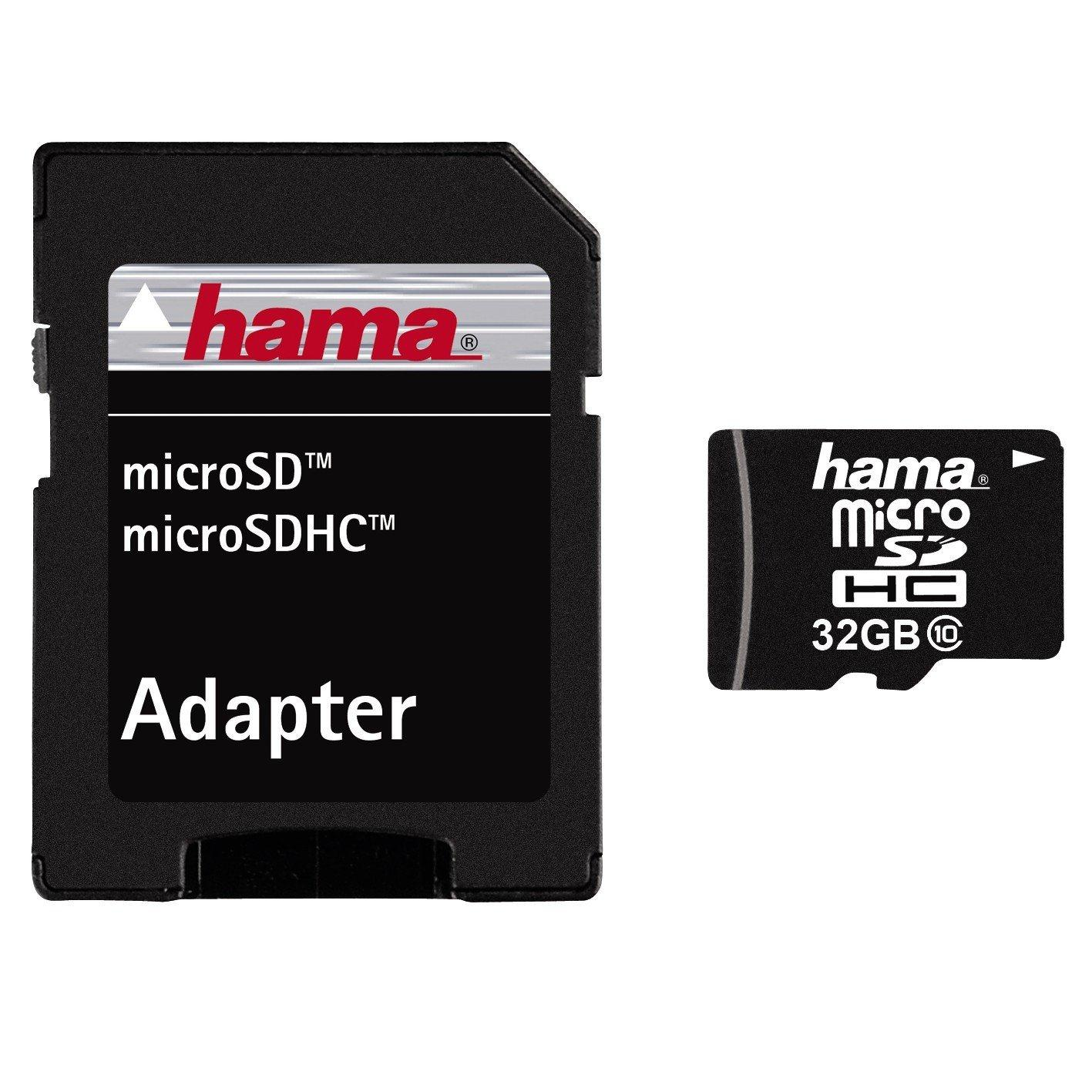 Hama (32GB) microSDHC Memory Card 22MB/s (Class 10) + SD Adaptor