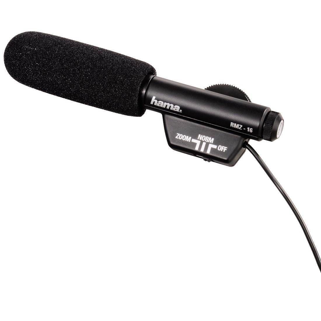 Hama RMZ-16 Clip-On Directional Microphone (Black)