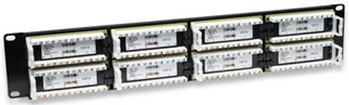 Intellinet Cat6 Patch Panel with 48-Port (Black)