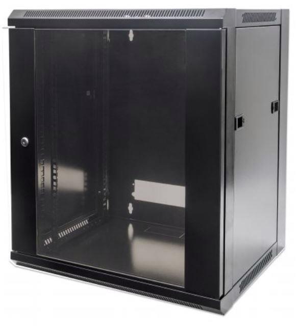 Intellinet (19 inch) Wallmount Cabinet 6U Flatpack (Black)